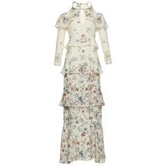 Vilshenko Annabelle Silk Floral Maxi Dress