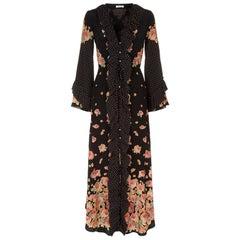 Vilshenko Aventina Floral-Print Silk-Crepe Maxi Dress