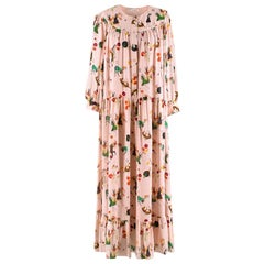 Vilshenko Long Sleeve Fairy Tale Print Tiered Blush Dress - Size US 6