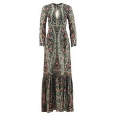 Vilshenko Maria Printed Silk Crepe De Chine Maxi Dress