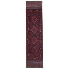 Vintage Oriental Runner Rug Red Traditional Carpet Runners Handmade Afghan Rugs