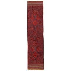 Vinatage Oriental Runner Rug Red Traditional Carpet Runners Handmade Afghan Rugs