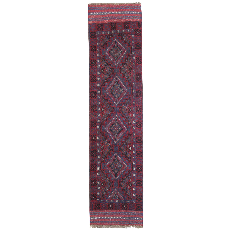 Vintage Oriental Rug Runner Red Traditional Handmade Carpet Runners Afghan Rugs