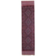 Vintage Oriental Rug Runner Red Traditional Handmade Carpet Runners Afghan Rugs