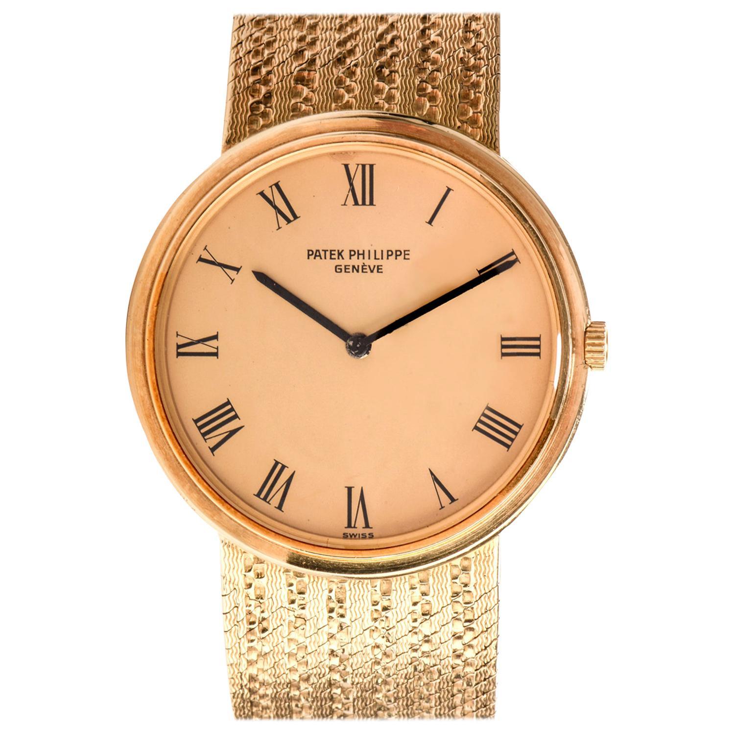 Vinatge Patek Philippe Automatic Calatrava 3591 18 Karat Watch
