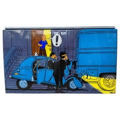 VINC, Rare Trunk of a Citroën 2CV, Tintin 2, 2000, Acrylic