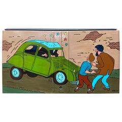 VINC, Rare Trunk of a Citroën 2CV, Tintin 3, 2000, Acrylic