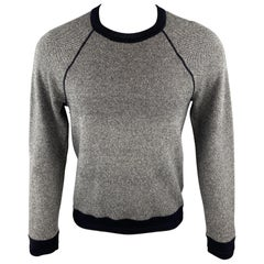 VINCE Size S Gray Heather Wool / Cashmere Crew-Neck Pullover Sweater