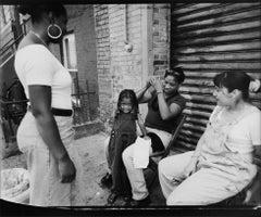 Monica Braiding Destiny's Hair, South 2nd Street, Williamsburg, Brooklyn