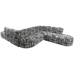 Vincent Curved Sofa Designed for Salon A+D Upholstered in Tibor Fabric