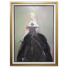 Vincent Delrez, Painting, FEMME EN NOIR