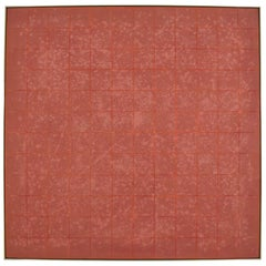 Vincent Longo, American, Grid in Terracotta, Large Six Foot Square