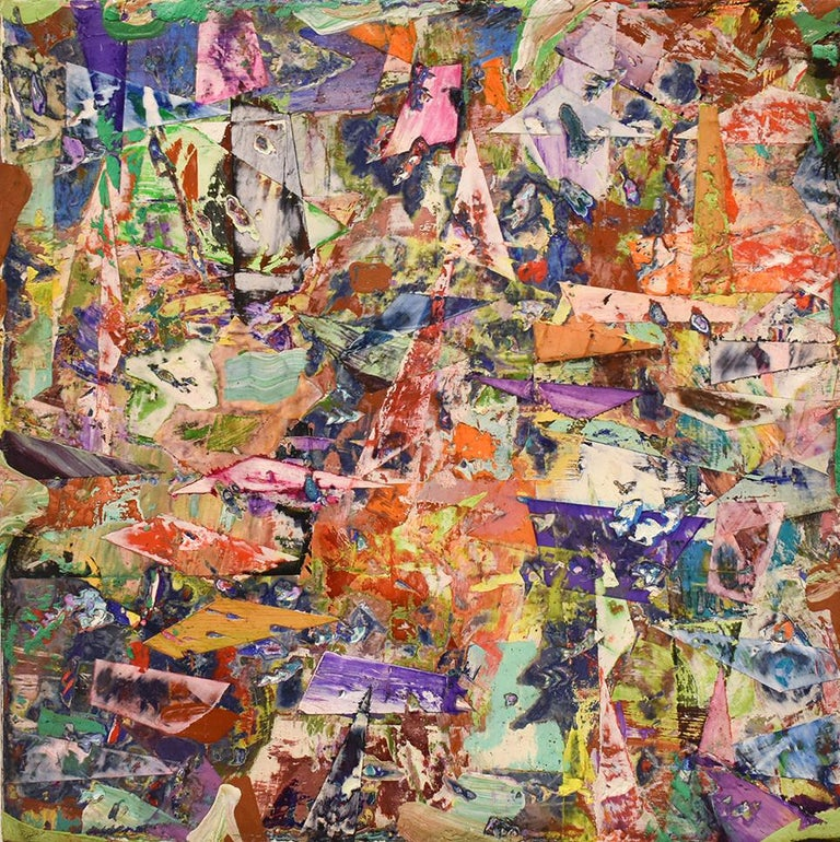 0a706a9482d Big Little 120 (Multi-Colored Layered Abstract Geometric Mixed-Media  Painting) -
