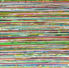 76 Horizon Lines: Colorful Abstract Painting with Bright Horizontal Stripes
