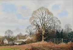 Traditional English Countryside Original Oil Painting British Landscape Artist