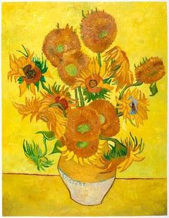 """Out of Stock"" - Vincent van Gogh - ""Vase with fifteen Sunflowers"", hand-painted"