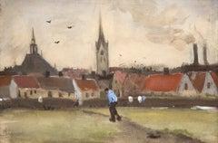 Uitzicht over Den Haag met de Nieuwe Kerk