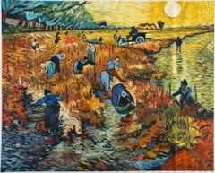 "Vincent van Gogh - ""The Red Vineyard"" - hand-painted in oil on canvas repr."