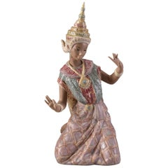 Vincente Martinez, Lladró, Thai Dancer in Traditional Clothes, Porcelain, 1977