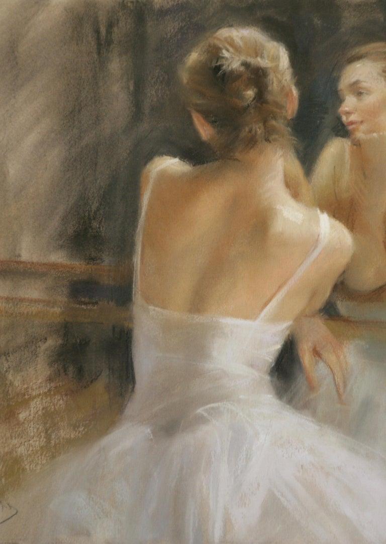 REFLECTIVE  MOMENTS .   Vicente Romero Redon Spanish contemporary artist - Painting by Vincente Romero Redondo
