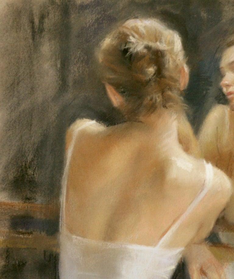 REFLECTIVE  MOMENTS .   Vicente Romero Redon Spanish contemporary artist - Realist Painting by Vincente Romero Redondo