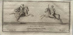 Ancient Roman Riders - Etching by Vincenzo Campana - 18th Century