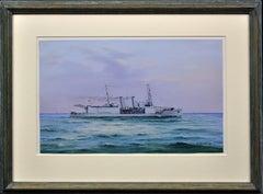 HMS Nairan. Royal Navy Seaplane Carrier. Float Plane. Tasmania & Melbourne Ferry