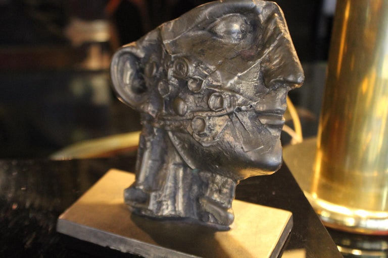 Italian Vincenzo Eulissi 1970 Bronze Modern Sculpture in Lost Wax For Sale