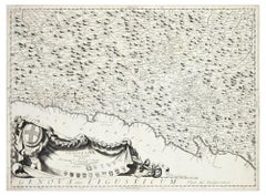 Genova Olim Ligusticum - Original Etching by V. Coronelli - 1684 ca.