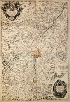 Valsavia Superiore e Inferiore - Etching by V. M. Coronelli - Late 17th century