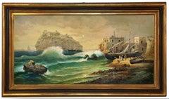 ISCHIA - Italian landscape oil on canvas painting, Vincenzo Montella