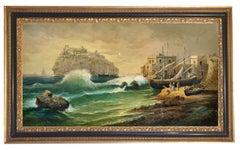ISCHIA -Posillipo School - Italian Landscape Oil on Canvas Painting