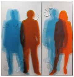 Simultaneous Transparencies  - Original Mixed Media by Vincenzo Ceccato - 2011