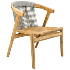Vine Chair in Teak with Silver-Vine Roping, Uultis Varanda Sense Outdoors