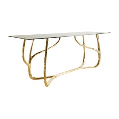 Vine Console with Glass Top