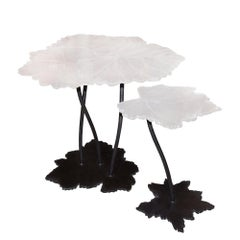 Vine Leaves Set of 2 Table in Baccarat Crystal