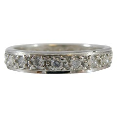 Vintage 0.56 Carat Diamond and Platinum Eternity Ring