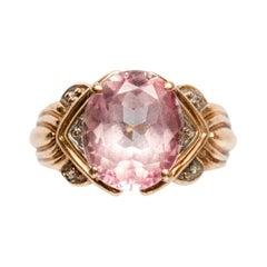 Vintage 10K Gold Pink Sapphire Ring