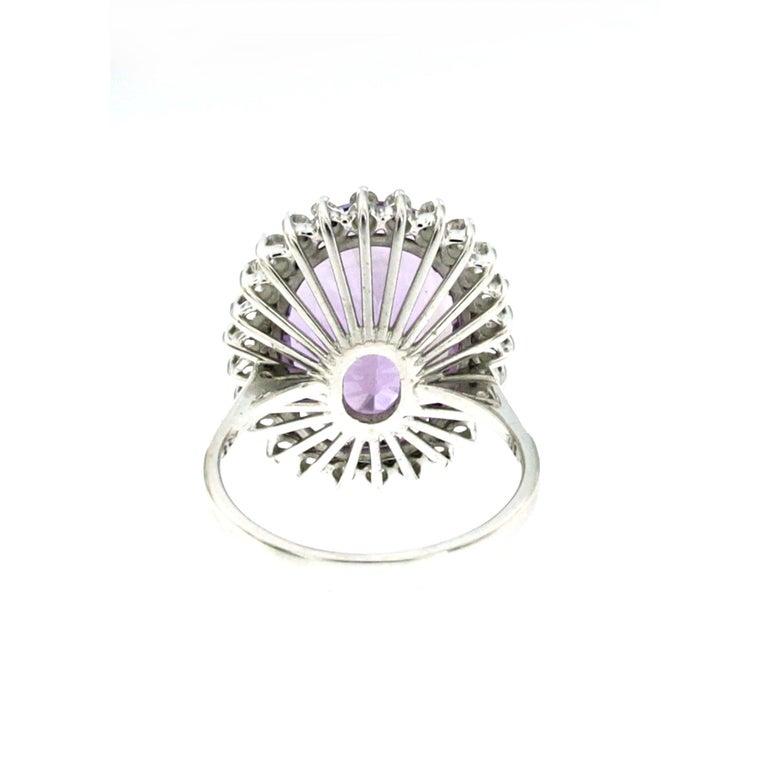 Vintage 11 Carat Amethyst Diamond Gold Ring 1