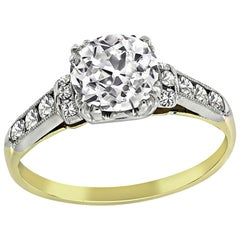 Vintage 1.11 Carat Diamond Engagement Ring