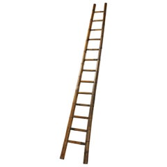 Vintage 13 Rung Bamboo Ladder, 20th Century