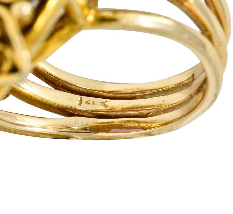 Vintage 13.64 Carat Emerald Cut Amethyst 14 Karat Gold Cocktail Ring For Sale 2