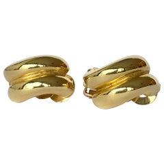 Vintage 14 Carat Gold Clip-On Earrings