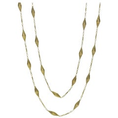 Vintage 14 Carat Gold Long Chain