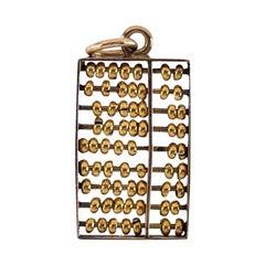Vintage 14 Karat Abacus Charm