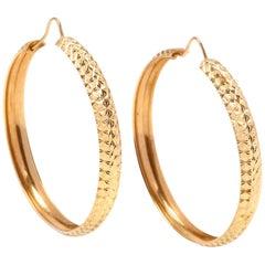 Vintage 14 Karat Gold Hoop Earrings