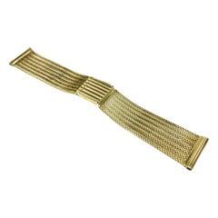 Vintage 14 Karat Gold Watch Band, Circa 1970s
