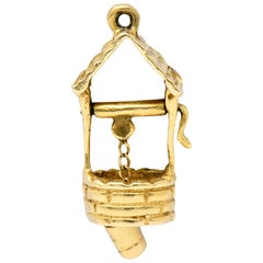Vintage 14 Karat Gold Wishing Well Charm