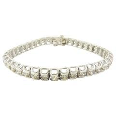 Vintage 14 Karat White Gold Diamond Tennis Bracelet 3.20 Carat Twt