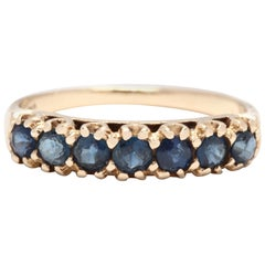 Vintage 14 Karat Yellow Gold and Sapphire Stackable Band Ring